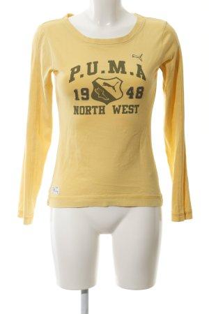 Puma Sweatshirt dunkelgelb Motivdruck sportlicher Stil