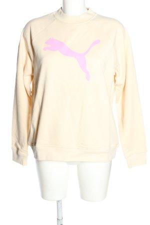 Puma Sweatshirt creme Motivdruck Casual-Look