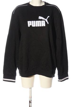 Puma Bluza dresowa czarny-biały Nadruk z motywem W stylu casual