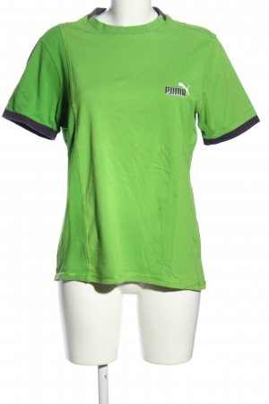 Puma T-Shirt grün-schwarz Casual-Look