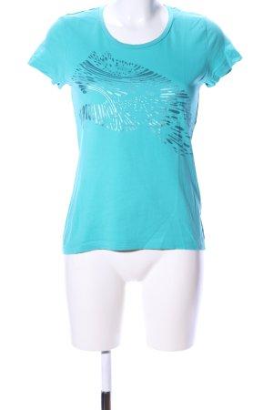 Puma T-Shirt blau Motivdruck Casual-Look