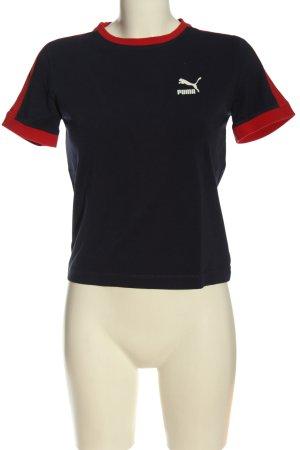 Puma T-Shirt schwarz-rot Casual-Look