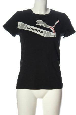 Puma T-Shirt schwarz Motivdruck Casual-Look
