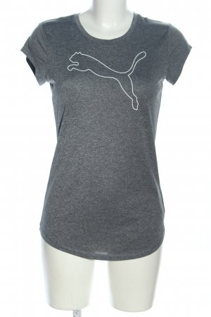Puma T-Shirt hellgrau meliert Casual-Look