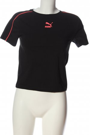 Puma T-Shirt schwarz-pink Motivdruck Casual-Look
