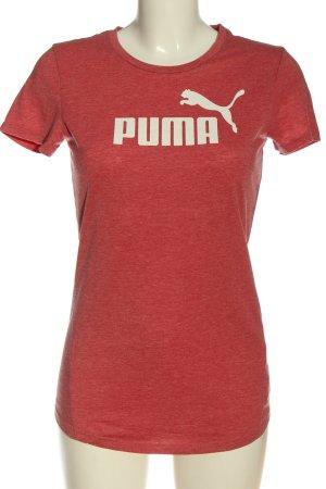 Puma T-Shirt rot-creme meliert sportlicher Stil
