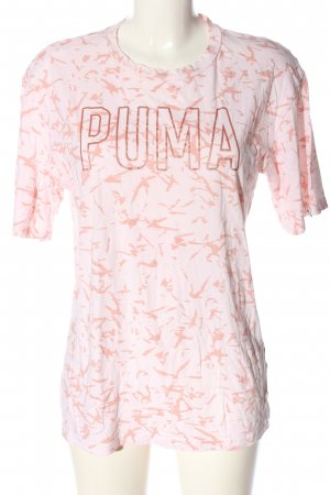 Puma T-Shirt pink-nude Allover-Druck Casual-Look