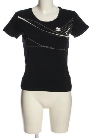 Puma T-Shirt schwarz Motivdruck sportlicher Stil