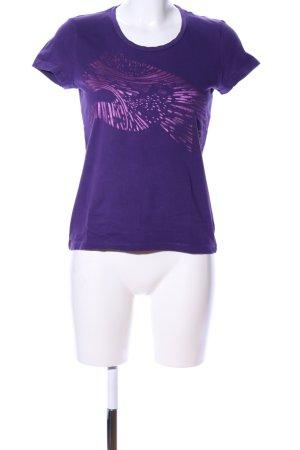 Puma T-Shirt lila Motivdruck Casual-Look