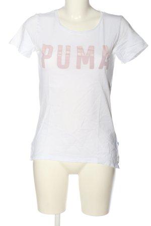 Puma T-shirt blanc lettrage imprimé style décontracté