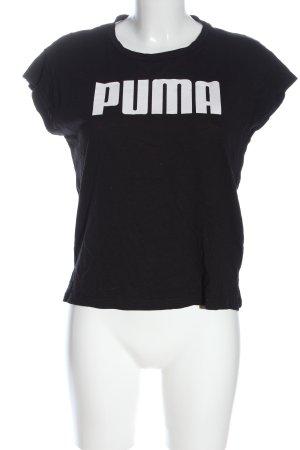 Puma T-Shirt schwarz Schriftzug gedruckt Casual-Look