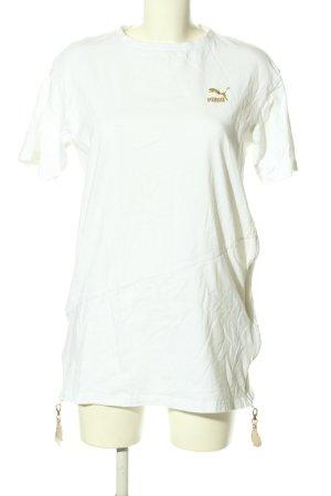 Puma T-Shirt weiß Schriftzug gedruckt Casual-Look