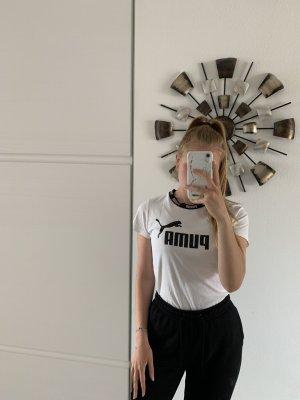 Puma Sports Shirt white-black
