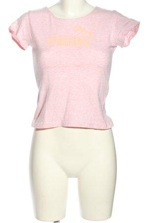 Puma T-Shirt pink meliert Casual-Look