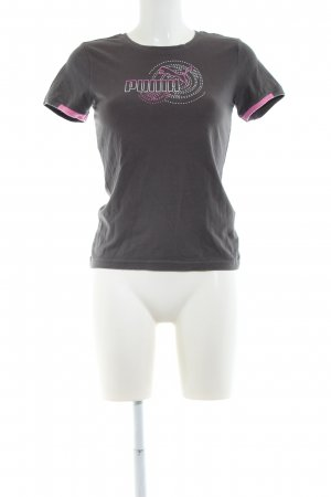 Puma T-Shirt hellgrau Motivdruck Casual-Look