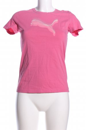 Puma T-Shirt pink Motivdruck Casual-Look