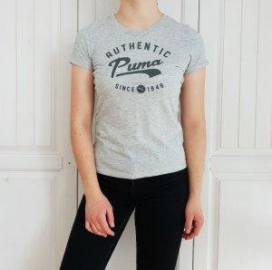 Puma T-Shirt Grau 36 S Tshirt Shirt Top Sport Sporttop Sporttshirt Bluse Hemd croptop Pulli pullover