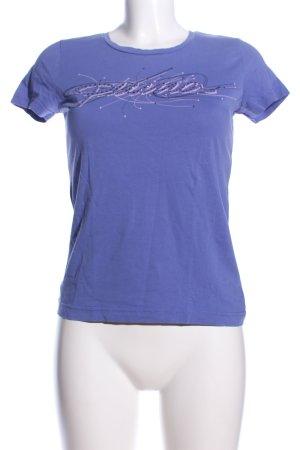Puma T-Shirt lila Allover-Druck Casual-Look