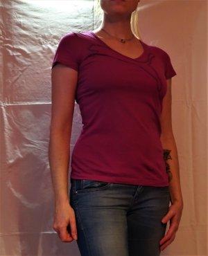 Puma T-Shirt mit Pailetten, V-Ausschnitt, pink-lila, Gr. 34, NEU!