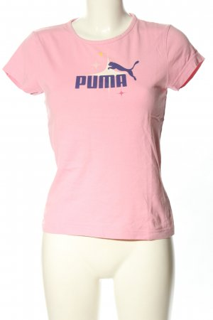 Puma T-Shirt pink Schriftzug gedruckt Casual-Look