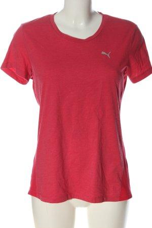 Puma T-Shirt rot-hellgrau Casual-Look