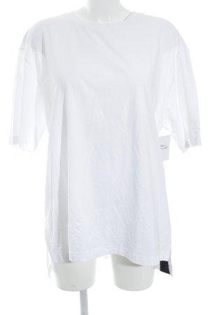 Puma T-Shirt weiß Schriftzug gestickt Casual-Look