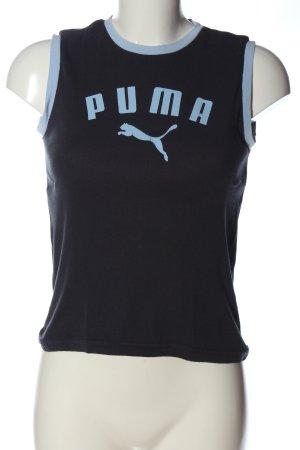 Puma Tanktop blau Schriftzug gedruckt Casual-Look