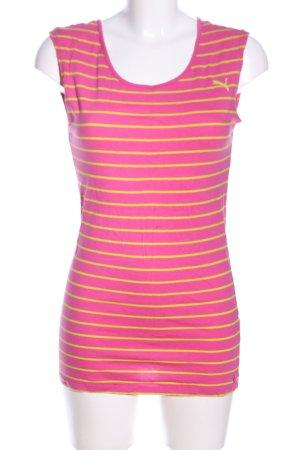 Puma Canotta rosa-giallo pallido motivo a righe stile casual