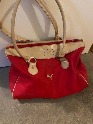 Puma Shoulder Bag dark red-red