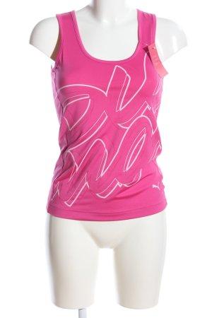 Puma Top met spaghettibandjes roze-wit prints met een thema casual uitstraling