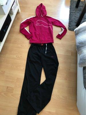 Puma Sports Jacket raspberry-red-black
