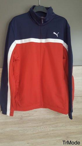 Puma Sportjack rood-donkerblauw