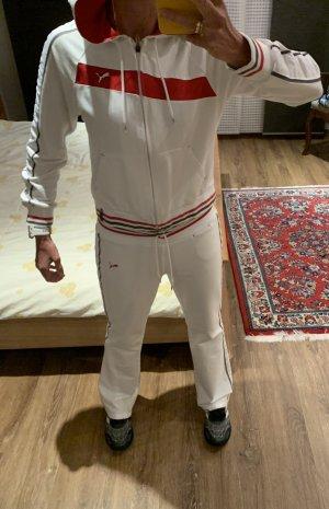 Puma Completo sportivo bianco-rosso