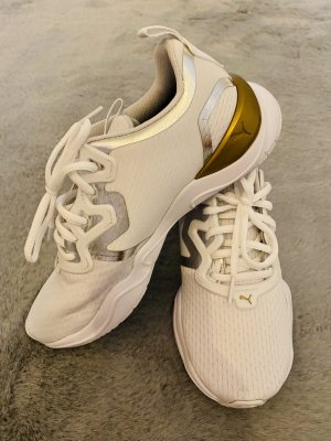 Puma Lace-Up Sneaker white-gold-colored
