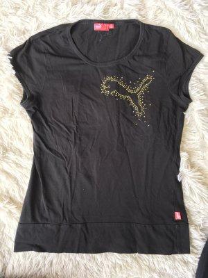 Puma Sportshirt zwart-goud