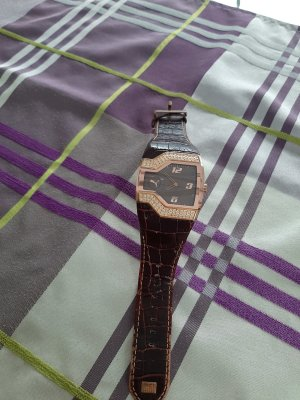 Puma Horloge met lederen riempje bruin