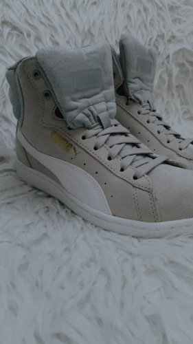 Puma High Top Sneaker light grey-oatmeal leather