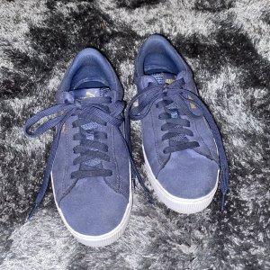 Puma Vikky Platform Sneaker blau Damen Gr. 38,5