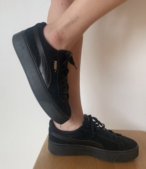 Puma Lace-Up Sneaker black-gold-colored