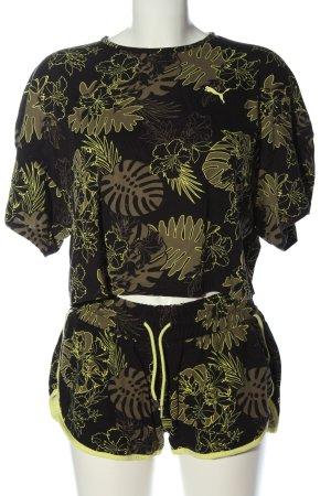 Puma Woven Twin Set black-khaki allover print casual look