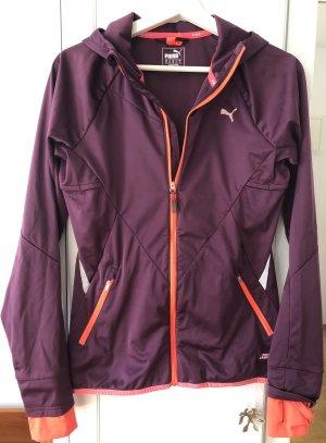 Puma Giacca sport arancio neon-marrone-viola