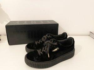 Puma x Fenty Rihanna Creeper Plateau Sneaker Samt Schwarz 38