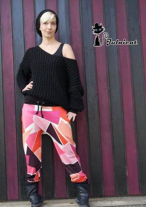 Julnicat Pantalón estilo Harem multicolor