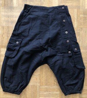 Ohne 3/4 Length Trousers black cotton