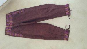 Pantalon large multicolore coton