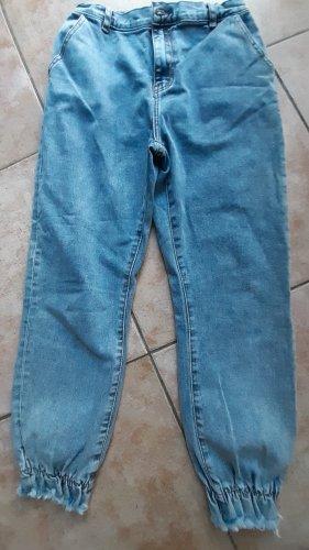 Workowate jeansy błękitny