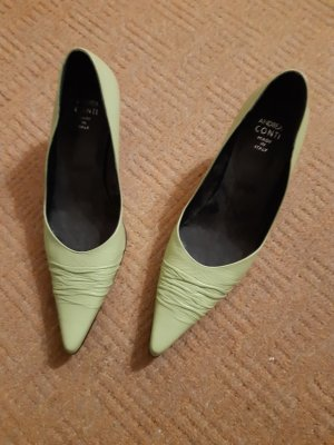 Andrea Conti Pointed Toe Pumps lime-green