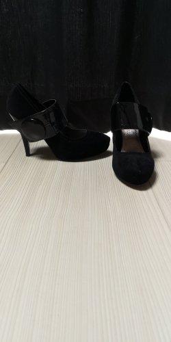 Gesp-pumps zwart