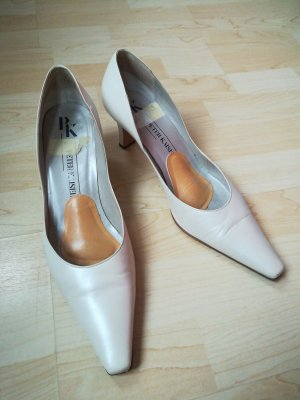 Peter Kaiser Pointed Toe Pumps cream leather