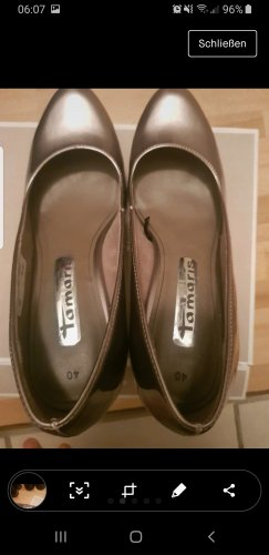 NEUF Gabor Cuir slipper Chaussure ballerine mocassin taille 8 couleur taupe 047